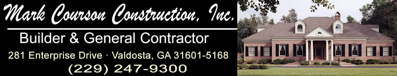 Mark courson construction company inc custom home for Custom home builders valdosta ga
